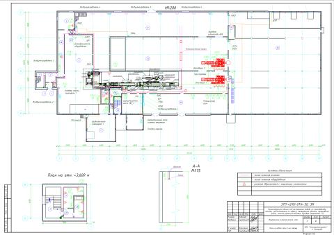 ЭТП-42101-0714-ЭО, ЭМ_10 План силовой сети 1-го этажа